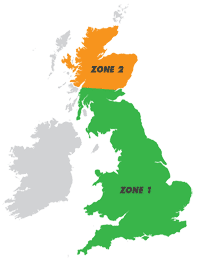 Fitting zones